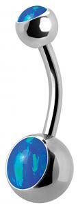 Navelsmycke, Double Blue Opal