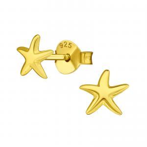 Guldiga små örhängen - Sjöstjärna