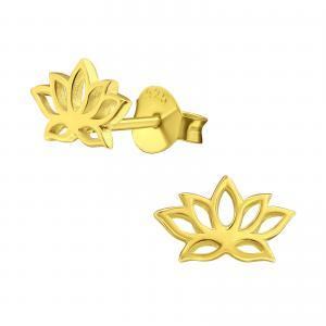 Guldiga örhängen - Lotus