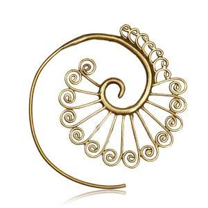 Örhängen i Mässing, Mandala Spiral