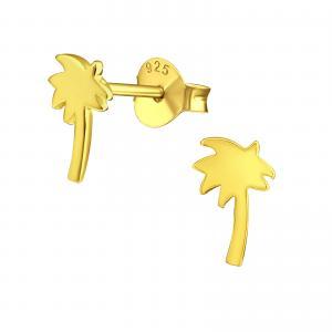 Guldiga örhängen - Palm