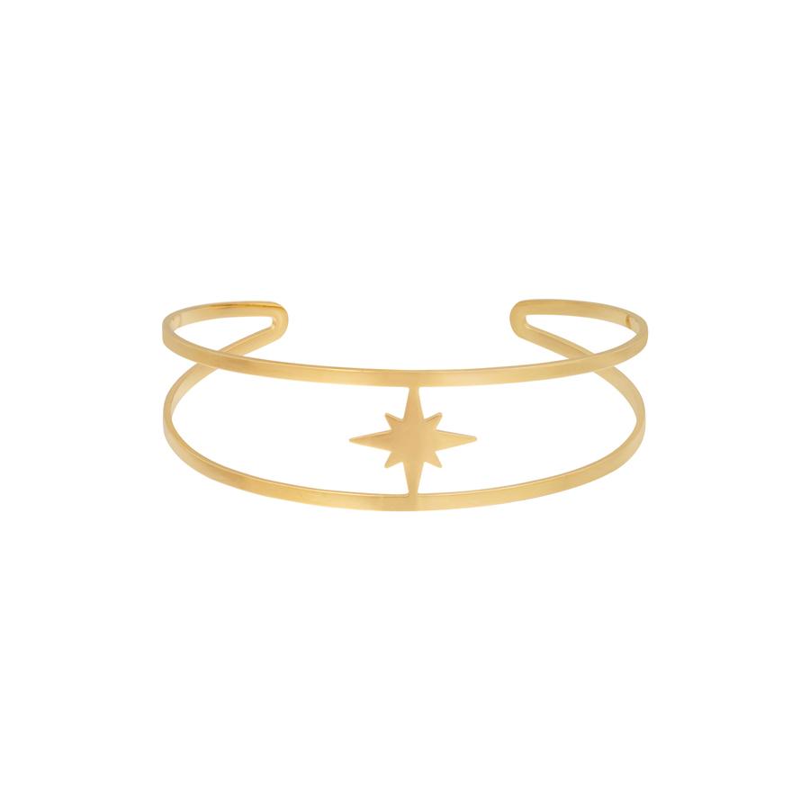 Armband i kirurgiskt stål - Guld - Stjärna