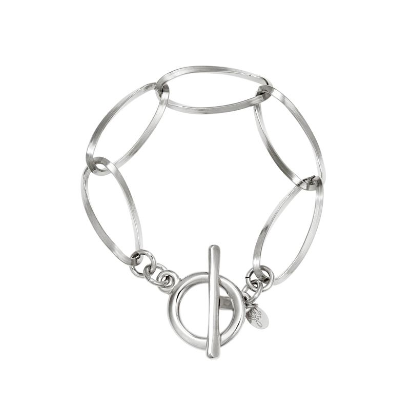 Armband i kirurgiskt stål - Oval kedja