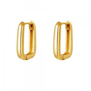 Ovala hoops - Örhängen i guldpläterat kirurgiskt stål
