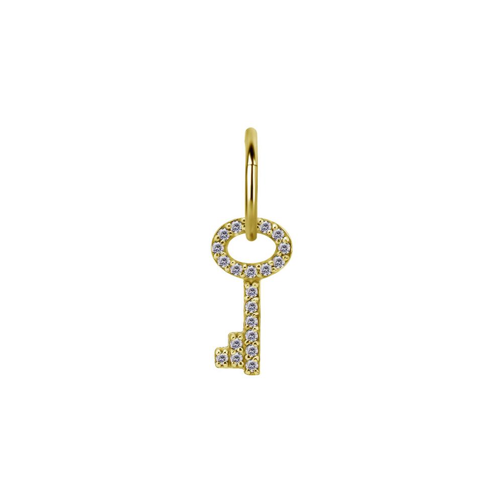 Berlock - Hängsmycke till ring - Nyckel