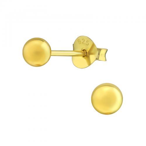 Örhängen - Guldig Kula 4 mm
