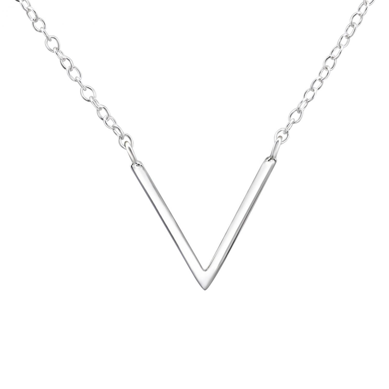 Halsband - Silver Chevron