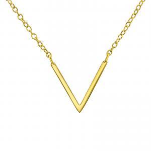 Halsband - Guld Chevron