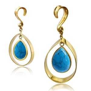 Vikter / Ear weights - Turquoise