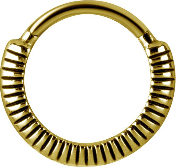 Clicker Ring - Piercingsmycke - Guld Pvd