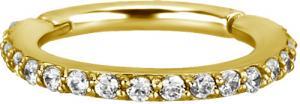 Guldig Ring till piercing - 24k pvd guld