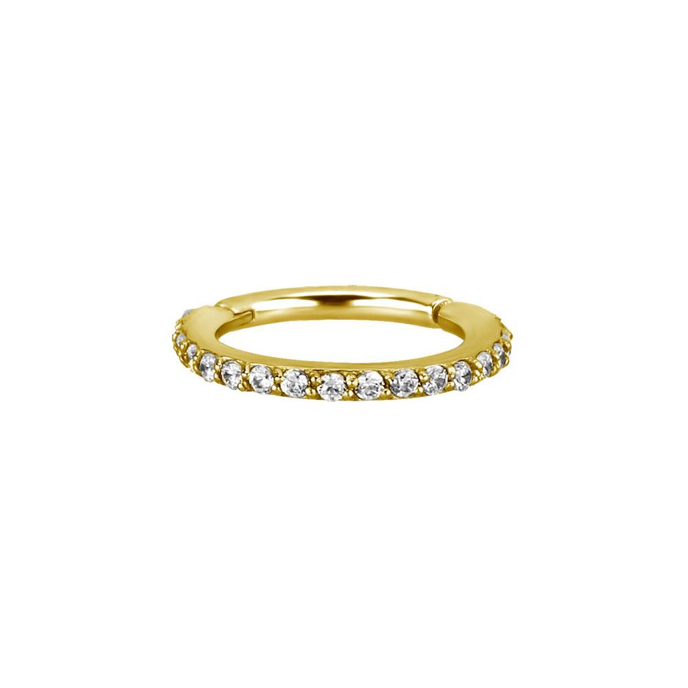 Guldig Clicker Ring till piercing - 24k pvd guld