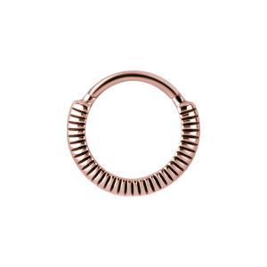 Ring till piercing i kirurgiskt stål - Roséguld