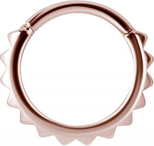 Clicker Ring, Roséguld - Spikar