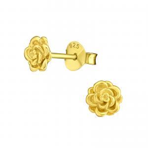 Örhängen Studs - Gold Rose