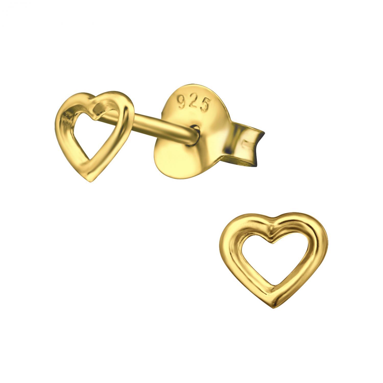 Örhängen Studs - Heart of Gold
