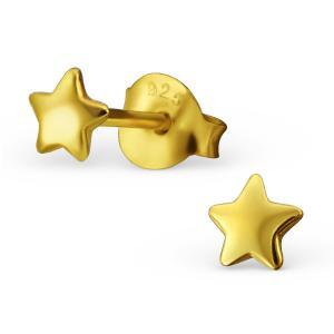 Örhängen Studs - Stjärna - Guldpläterat