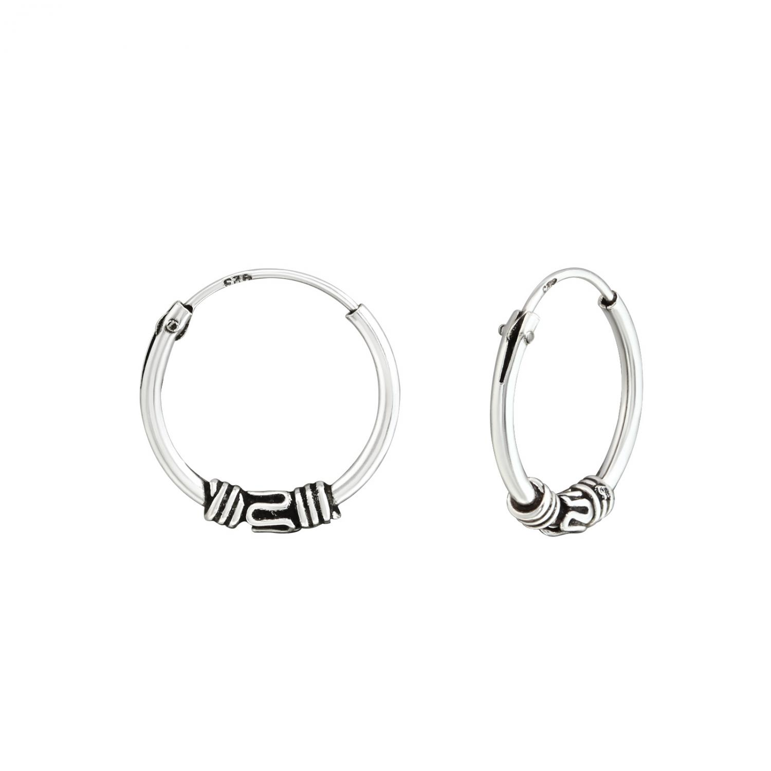 Bali Hoops i 925 Sterling Silver - 12 mm