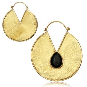 Örhängen i Mässing, Golden Obsidian
