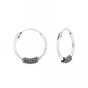 Bali Hoops i 925 Sterling Silver, 12mm