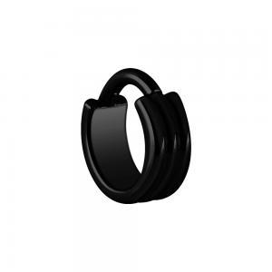 Ring till piercing  - Svart stål - Piercingsmycke