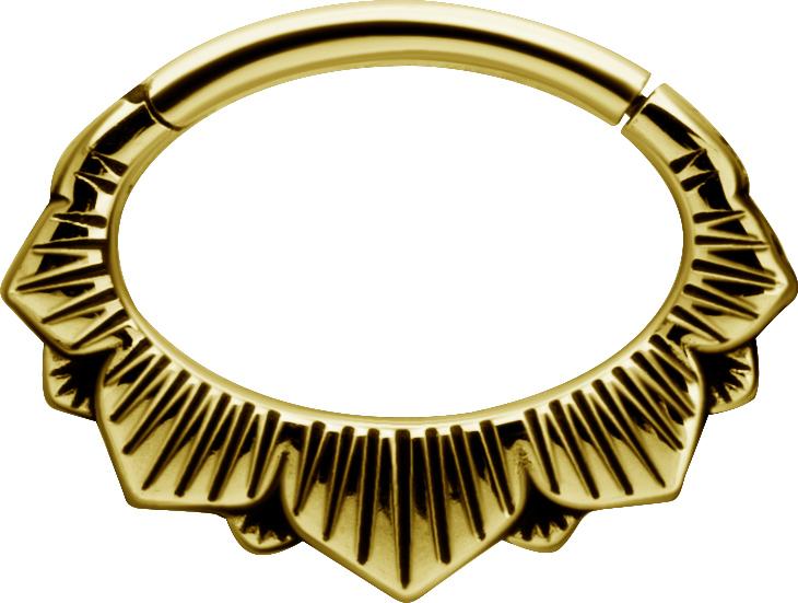 Septum / Daith Clicker - Golden Steel