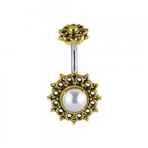 Navelsmycke, Mandala med Pärla