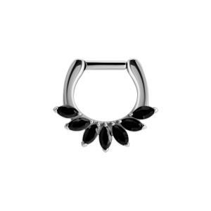Septum Clicker - svart kristall
