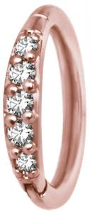 Clicker Ring, Rose Gold Steel
