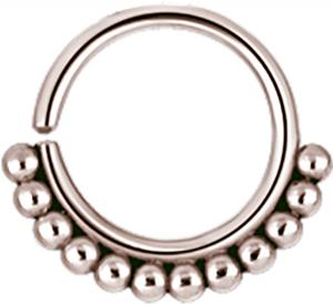Bead-ring i rosé steel
