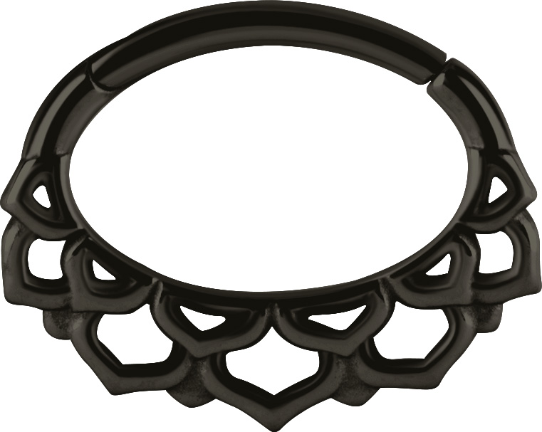 Septum / Daith Clicker, Black Steel