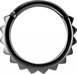 Clicker ring -  Black Steel