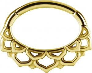 Septum / Daith Clicker Golden Steel