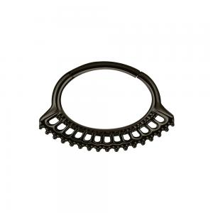 Septum / Daith Clicker, Black Steel