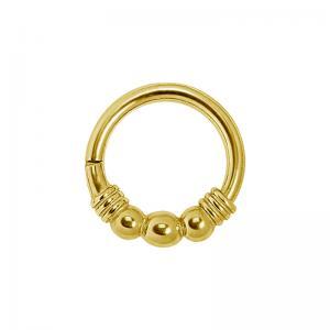 Guldring - Ring till piercing