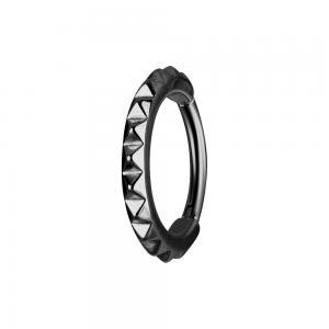 Clicker ring -  Svart ring - Piercingsmycke