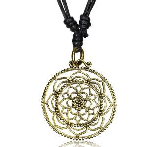 Halsband i mässing - Mandala