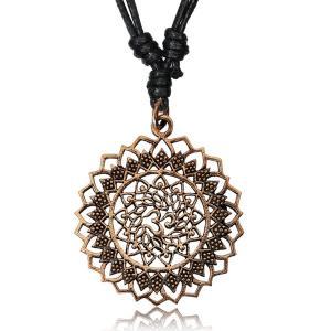 Halsband i Brons, Mandala Aum