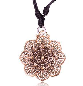 Halsband brons mandala