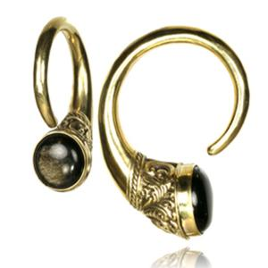 Vikter / Ear weights Golden Obsidian