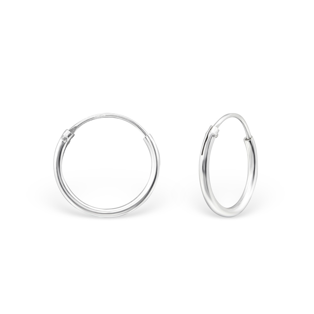 Hoops i 925 Sterling Silver, 10 mm