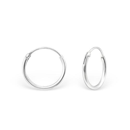 Släta hoops - Creoler ringar i 925 Sterling Silver, 10 mm