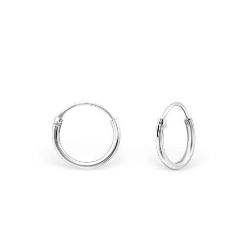 Släta hoops - Creoler ringar i 925 Sterling Silver, 8 mm