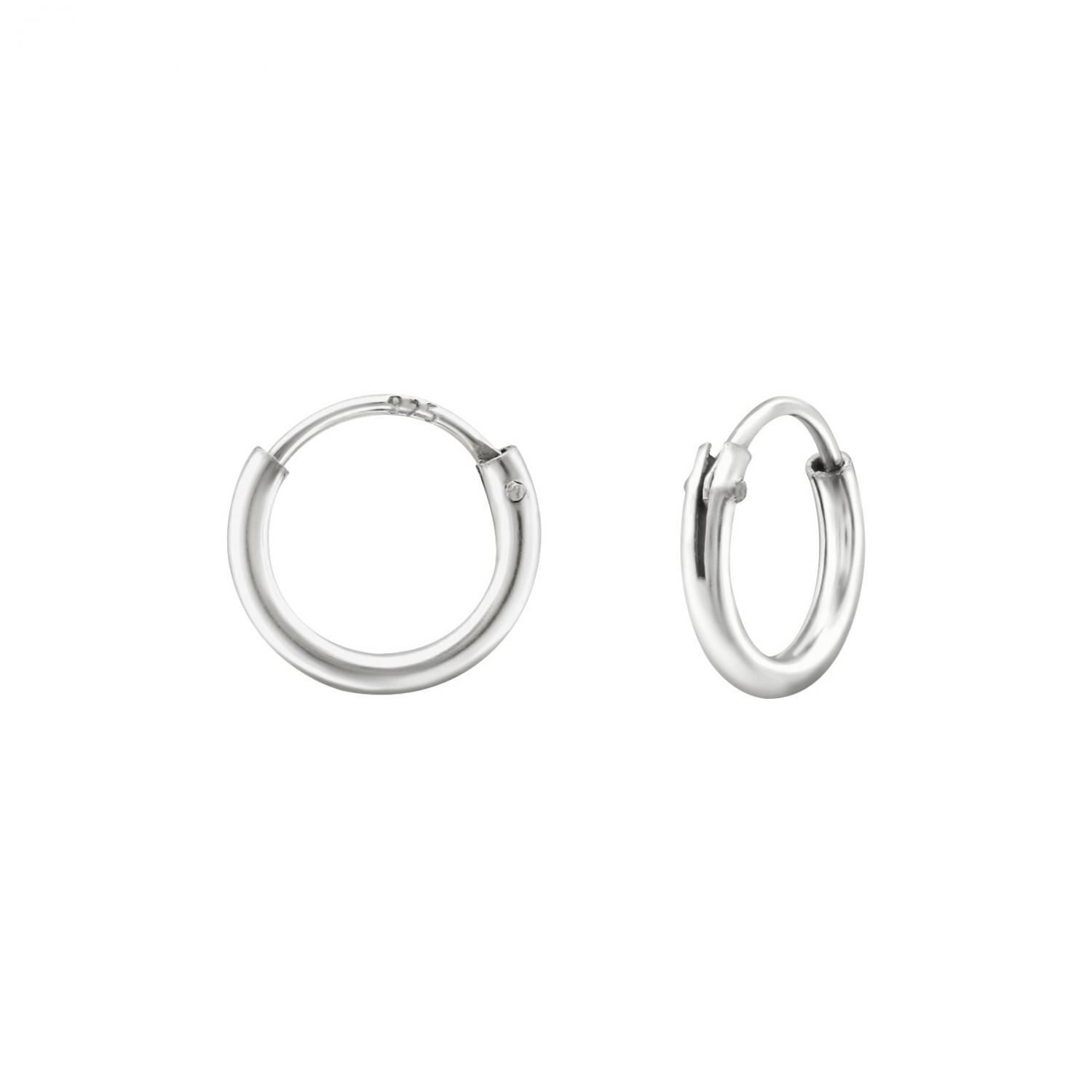 Hoops i 925 Sterling Silver, 6 mm