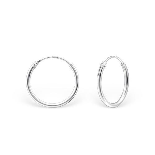 Släta hoops - Tunna Creoler ringar - Örhängen i äkta silver