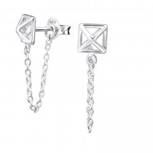 Silverörhängen - Pyramid Chain