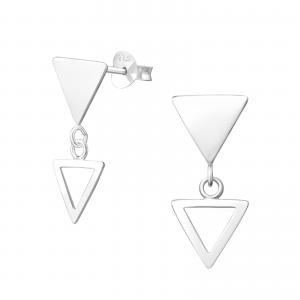 Silverörhängen - Triangel Dangle