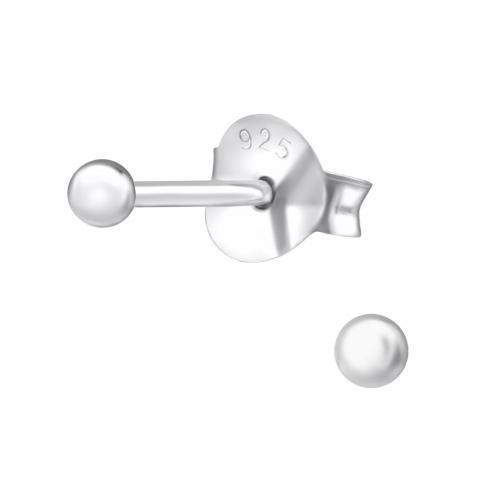 Silverörhängen - Kula 2mm