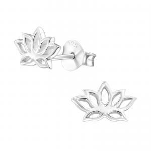 Silverörhängen - Lotus Mandala