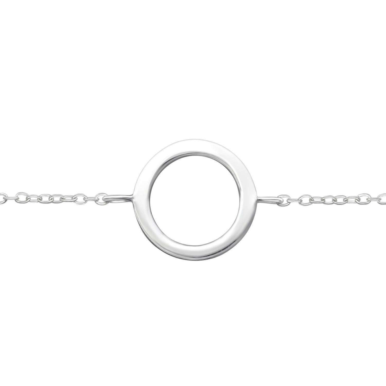 Armband - Äkta Silver - Cirkel